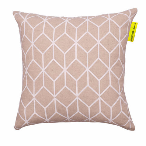 Cubed Neon White Cushion