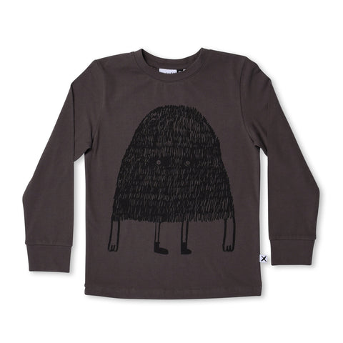 Minti Messy Monster LS Tee Dark Grey