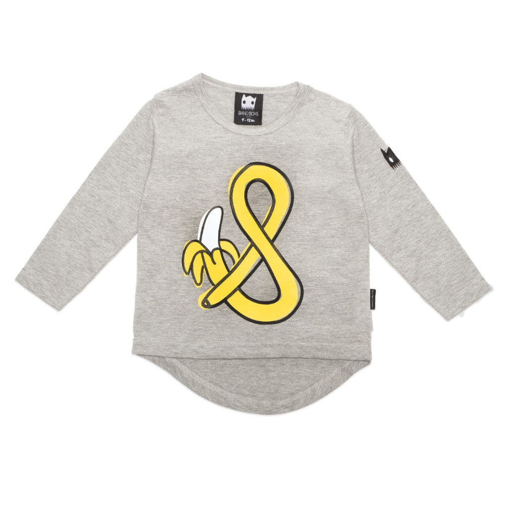 Band of Boys Organic Baby Tee Marle Grey