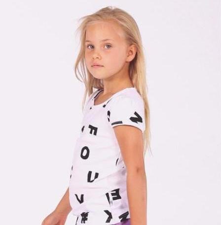 Littlehorn Alphabet Tee - White
