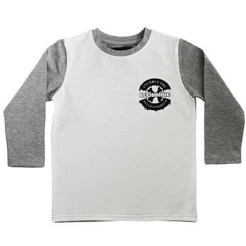 Hello Stranger Beginnings LS Tee White/Grey | 40% OFF