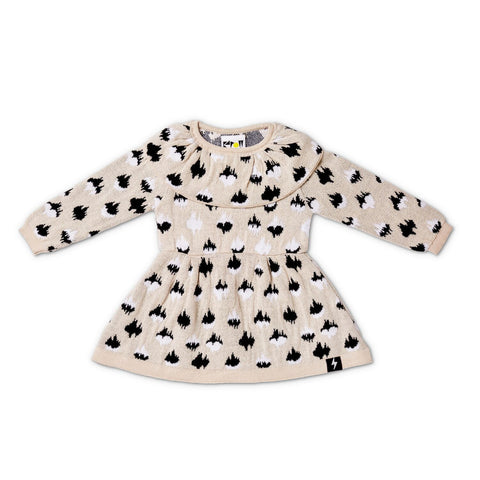 Kapow Cheetah Spot Ruffled Collar Dress