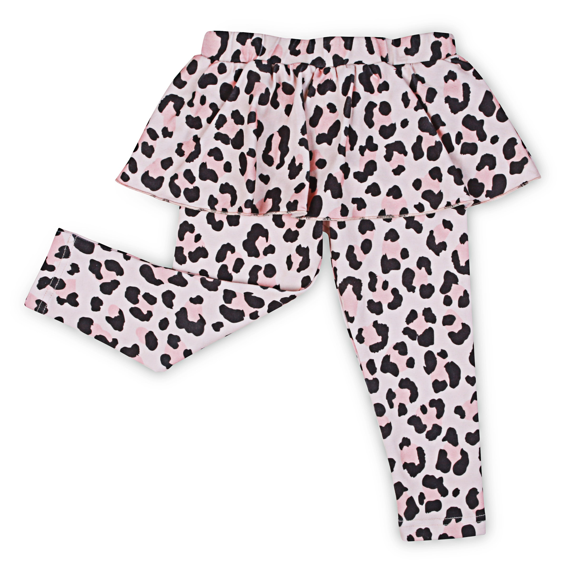 Kapow Cheetah Skeggings Apricot
