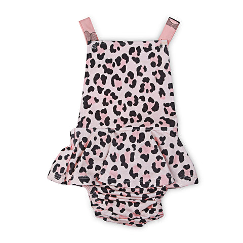 40% OFF Kapow Cheetah Ruffle Playsuit - Apricot