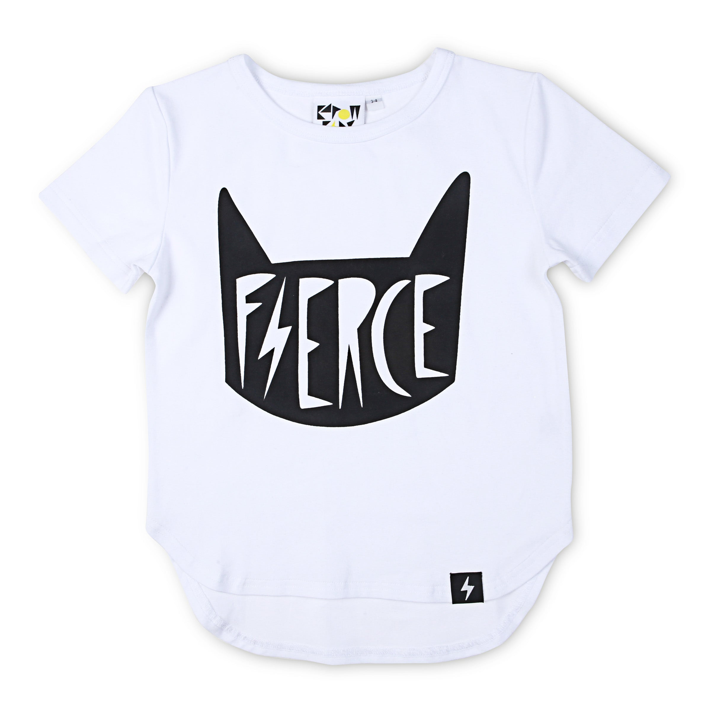 60% OFF Kapow Fierce Drop Back T-shirt - White SIZE 0-3M & 2