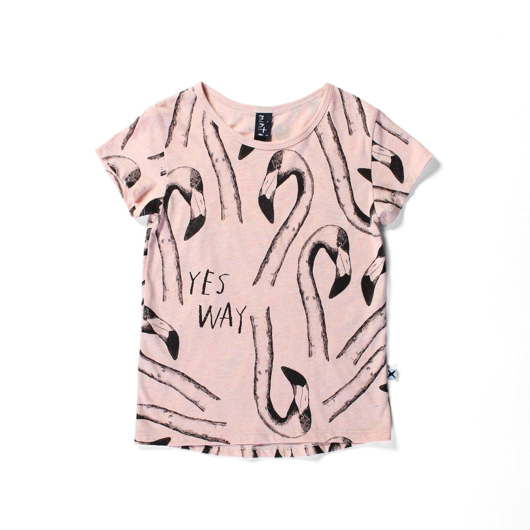 Minti Flamingos Capped Tee - Pink Marle