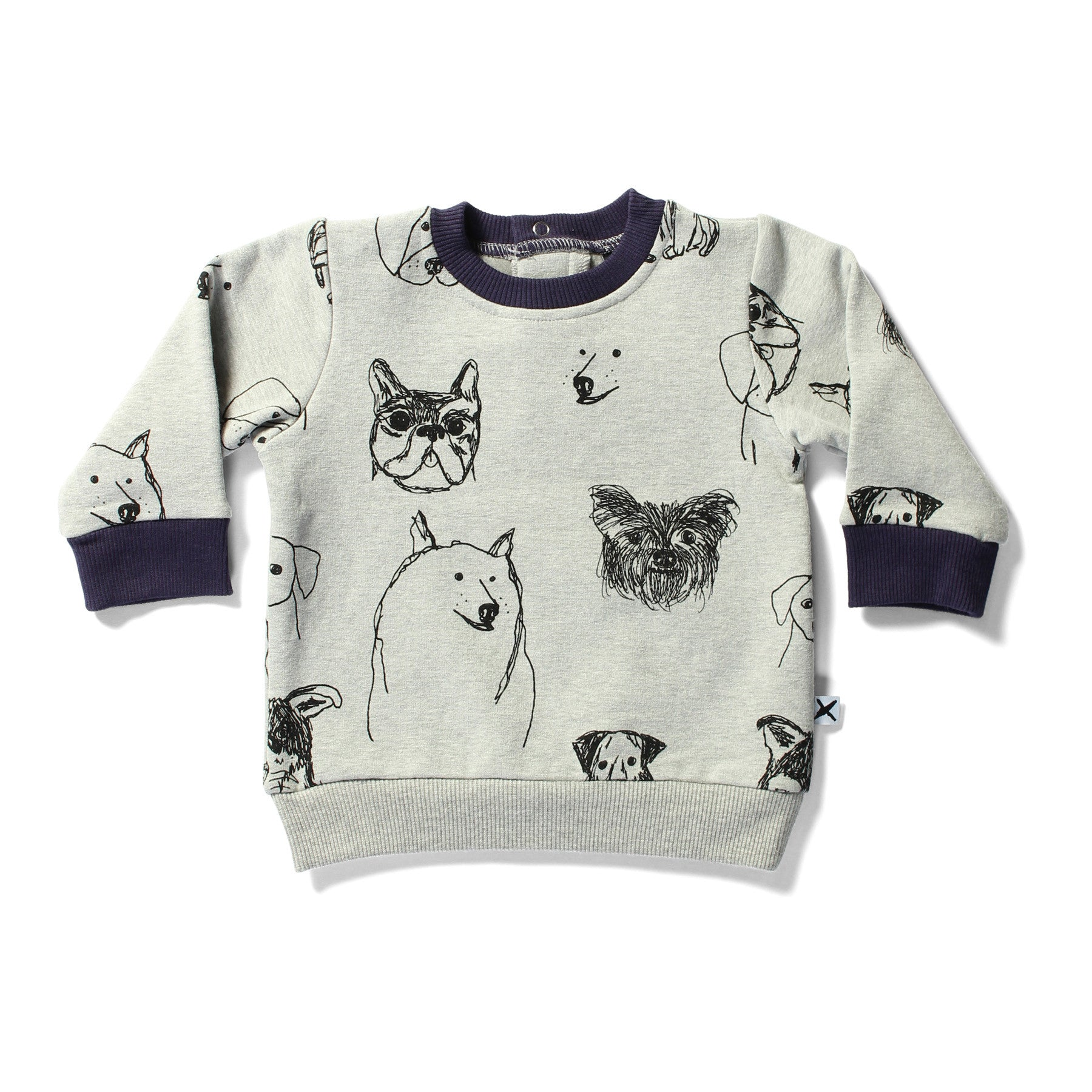 Minti Cruiser Crew Puppies Grey Marle | 40% OFF