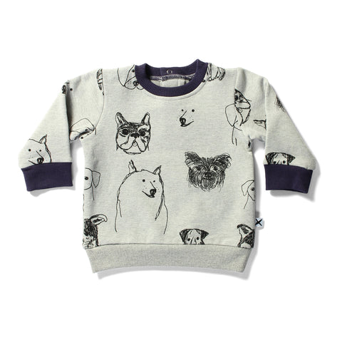 Minti Cruiser Crew Puppies Grey Marle | 50% OFF