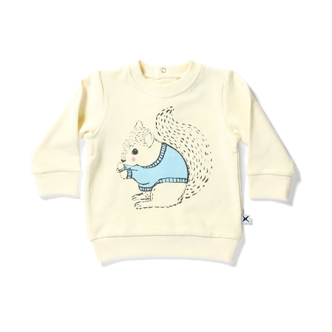 Minti Cruiser Crew Warm Squirrels Cream | 50% OFF
