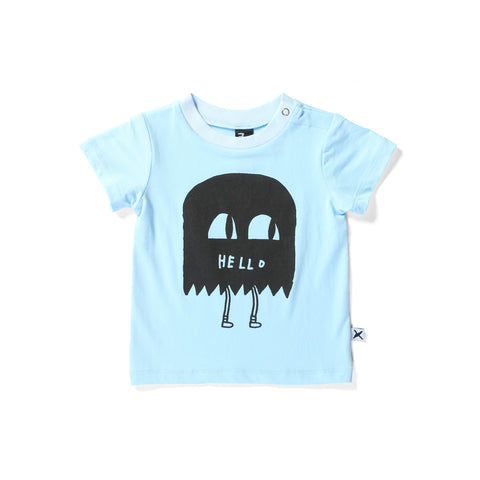 Minti Domed Tee Hello Man - Baby Blue