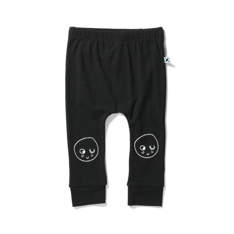 Minti Cosy Pant Baby Face Black | 50% OFF LAST PAIR 0-3M