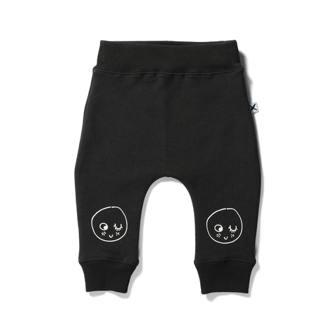 Minti Bronx Trackies Baby Face Black