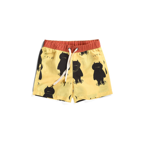 Minti Monster Skate Boardies - Yellow