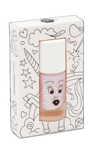 Nailmatic Kids Nail Polish Polly Pink Glitter