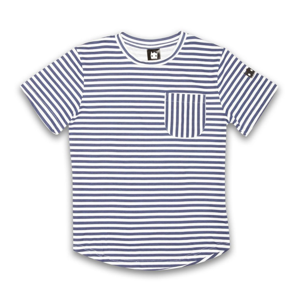 Band of Boys Crazy Eddie Stripe Tee Navy/White