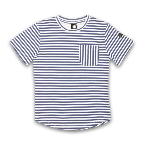 40% OFF Band of Boys Crazy Eddie Stripe Tee Navy/White