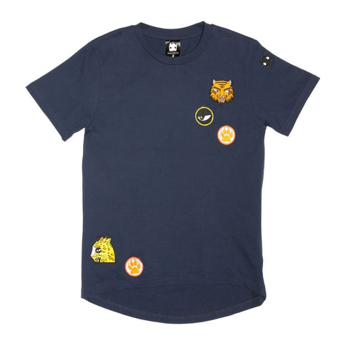 Band of Boys Cat Badges Tee Navy