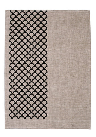 Zanzibar Tea Towel Black | LAST ONE