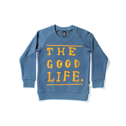 Littlehorn Good Life Sweat Navy | 50% OFF LAST ONE SIZE 7