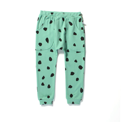 Littlehorn Dots Harem Pant Green