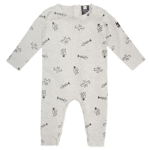 Band of Boys Organic Baby Stuff Romper Marle Grey