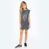 40% OFF Zuttion Hell Yeah Tank Dress Charcoal