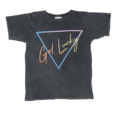 Zuttion Get Lucky SS Tee Charcoal