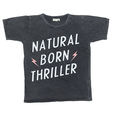 50% OFF Zuttion Natural Born Thriller SS Tee Charcoal