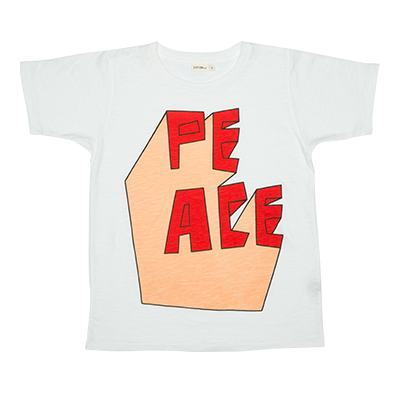 40% OFF Zuttion Peace 3D SS Tee White