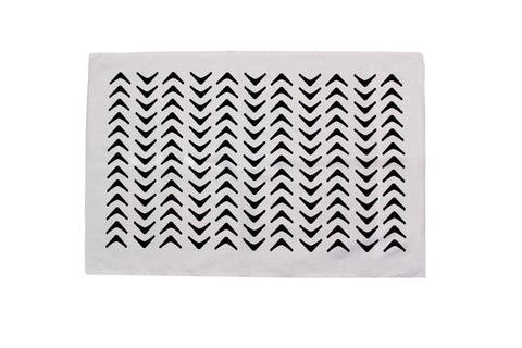 Aztec Black Pillowcase - PAIR