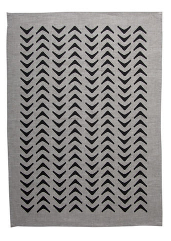 Aztec Tea Towel - Black LAST ONE