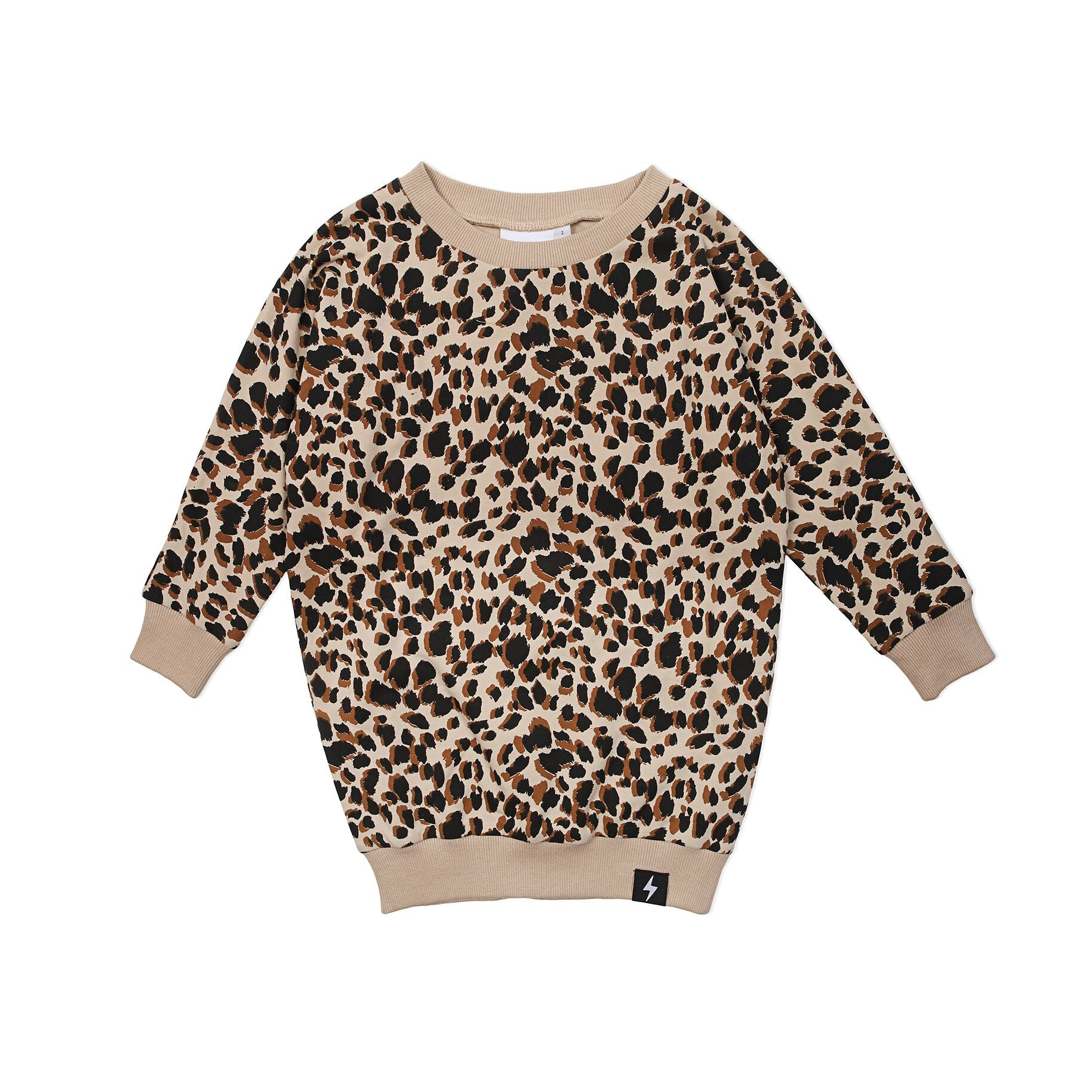 Kapow Leopard Print Sweater Dress