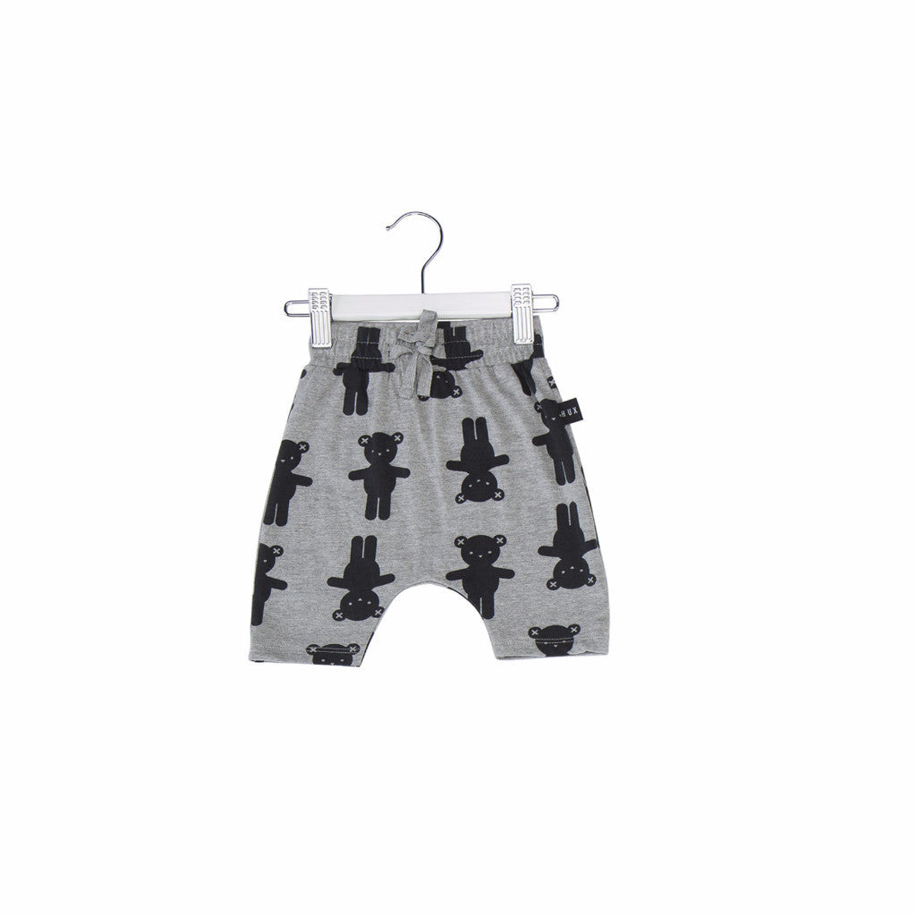 Huxbaby Bear Hug Shorts - Grey Marle LAST PAIR 0-3