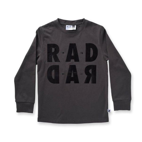 Minti Rad Rad Tee Dark Grey LAST ONE SIZE 4
