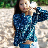 Island State Co Floral LS Blouse Blue