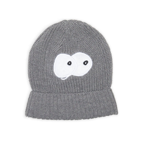 Band of Boys Knitted Beanie Big Eyes Marle Grey