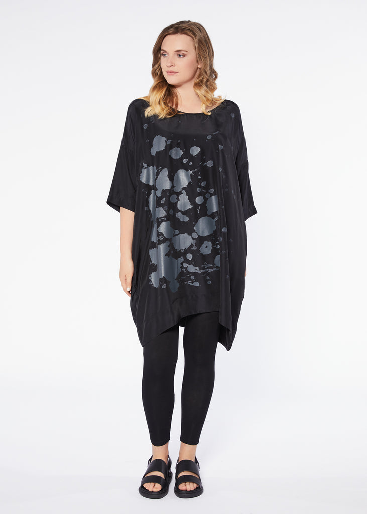Cascade Dress - Black Slate