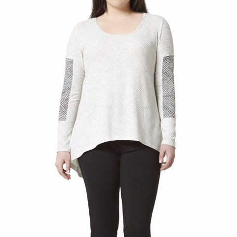 Cold Comfort Top - Cream Black