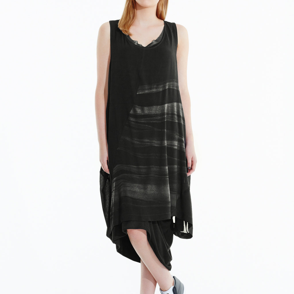 Middle of Nowhere Dress - Black Silver
