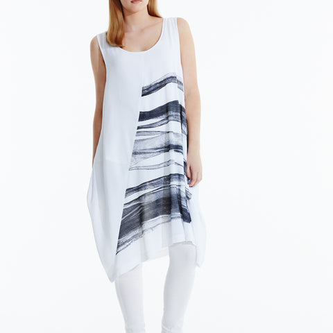 Middle of Nowhere Dress - White Black