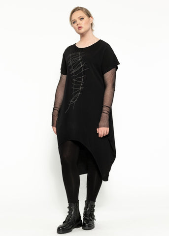 Twiggy Dress - Black Shadow