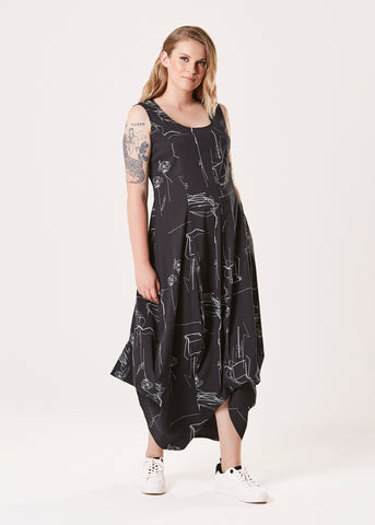 Jasmine Dress - Black Pearl