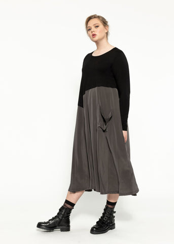 Lateral Dress - Black Shadow