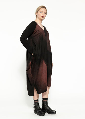 Holly Dress - Black Garnet