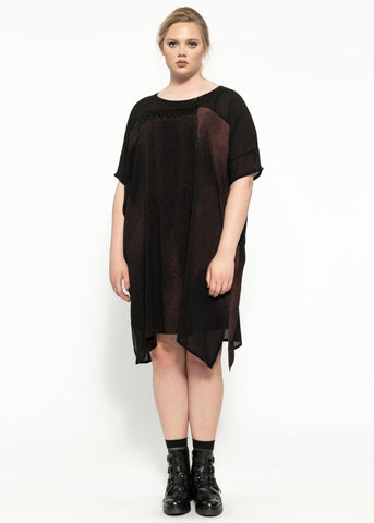 Reed Dress - Black Garnet