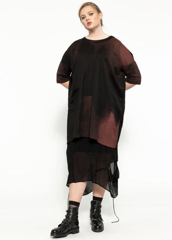Thrive Dress - Black Garnet