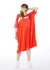Been There Dress - Orange Ivory