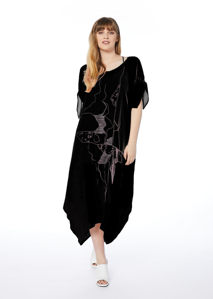 Chapter & Verse Dress - Black Rose