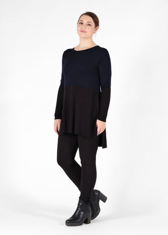 India Top - French Navy Black