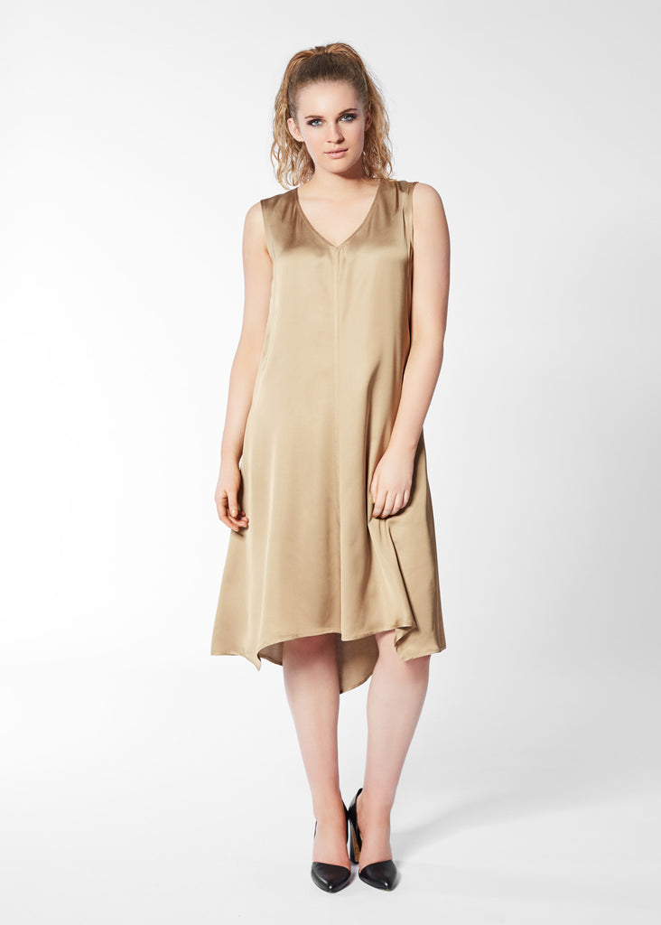 Silver Spoon Dress - Gold